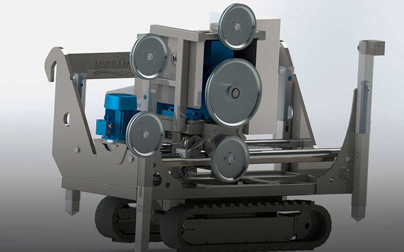 Máquina de corte por hilo